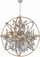 Worldwide W83191MG33-CL Armillary Matte Gold 33  Drop Ceiling Light Fixture