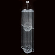 Worldwide W83206C28 Saturn Polished Chrome Clear Halogen Multi Hanging Light Fixture