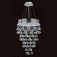 Worldwide W83211C16 Icicle Polished Chrome Clear Halogen Multi Pendant Lamp