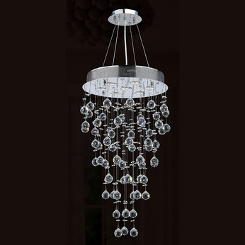 Worldwide W83212C18 Icicle Polished Chrome Clear Halogen Multi Drop Lighting