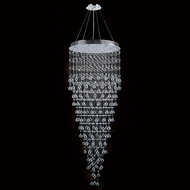 Worldwide W83217C30 Icicle Polished Chrome Clear Halogen Multi Pendant Lighting Fixture