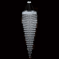 Worldwide W83218C32 Icicle Polished Chrome Clear Halogen Multi Hanging Pendant Lighting