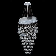 Worldwide W83227C20 Icicle Polished Chrome Clear Halogen Multi Drop Ceiling Lighting