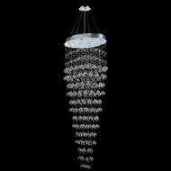 Worldwide W83229C28 Icicle Polished Chrome Clear Halogen Multi Ceiling Pendant Light