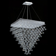 Worldwide W83241C32 Icicle Polished Chrome Clear Halogen Multi Hanging Lamp