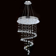 Worldwide W83248C24 Helix Polished Chrome Clear Halogen Multi Hanging Pendant Lighting