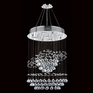 Worldwide W83252C18 Saturn Polished Chrome Clear Halogen Multi Hanging Light Fixture