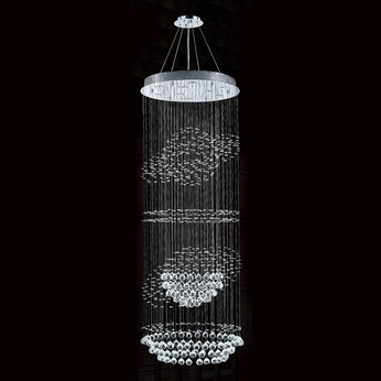 Worldwide W83255C28 Saturn Polished Chrome Clear Halogen Multi Ceiling Light Pendant