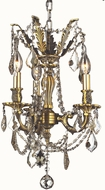 Worldwide W83302BP13-GT Windsor Antique Bronze Mini Chandelier Light