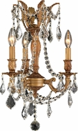 Worldwide W83302FG13-CL Windsor French Gold Mini Lighting Chandelier