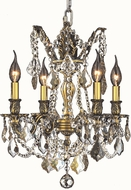 Worldwide W83303BP17-GT Windsor Antique Bronze Mini Chandelier Light
