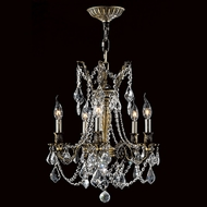 Worldwide W83304BP18-CL Windsor Antique Bronze Clear Mini Ceiling Chandelier