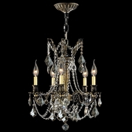 Worldwide W83304BP18-GT Windsor Antique Bronze Golden Teak Mini Hanging Chandelier