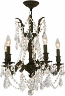Worldwide W83304F18-CL Windsor Dark Bronze Mini Ceiling Chandelier
