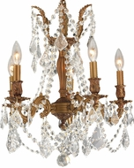 Worldwide W83304FG18-CL Windsor French Gold Mini Hanging Chandelier