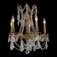 Worldwide W83304FG18 Windsor Small 5 Candle 18 Inch Diameter Chandelier With Crystal Options