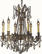 Worldwide W83305BP23-GT Windsor Antique Bronze Mini Hanging Chandelier
