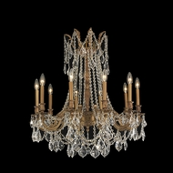 Worldwide W83308FG28 Windsor Large French Gold Chandelier Lighting Fixture - 10 Candles