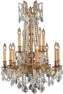 Worldwide W83309FG24-CL Windsor French Gold Chandelier Light