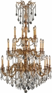 Worldwide W83311FG38-CL Windsor French Gold Ceiling Chandelier