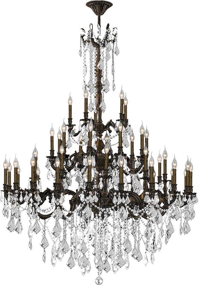 Worldwide W83312f54 Cl Windsor Flemish Br Clear Chandelier Lighting