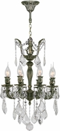 Worldwide W83321B16 Versailles Antique Bronze Mini Chandelier Lamp
