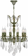 Worldwide W83322B17 Versailles Antique Bronze Mini Chandelier Light