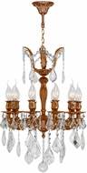 Worldwide W83322FG17 Versailles French Gold Mini Ceiling Chandelier