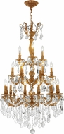 Worldwide W83327FG29 Versailles French Gold Clear Hanging Chandelier