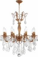 Worldwide W83329FG23-CL Versailles French Gold Mini Chandelier Light