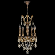 Worldwide W83330B13-GT Versailles Antique Bronze Golden Teak 13  Mini Chandelier Lighting