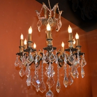 Worldwide W83335FG19 Versailles French Gold Mini Hanging Chandelier