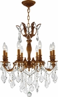 Worldwide W83337FG22 Versailles French Gold Mini Chandelier Light