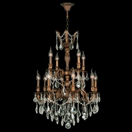 Worldwide W83346FG24 Versailles French Gold Clear 24 Hanging Chandelier