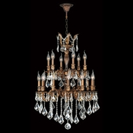 Worldwide W83348FG24 Versailles French Gold Clear 24 Lighting Chandelier