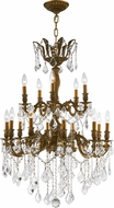 Worldwide W83349FG27 Versailles French Gold Clear 27 Chandelier Light