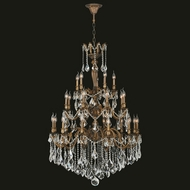 Worldwide W83352FG36 Versailles French Gold Clear 36 Chandelier Light