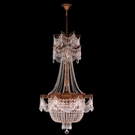 Worldwide W83355FG24-CL Winchester Crystal French Gold Finish 42 Tall Lighting Chandelier