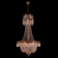 Worldwide W83355FG30-GT Winchester Crystal French Gold Finish 30 Wide Chandelier Lamp