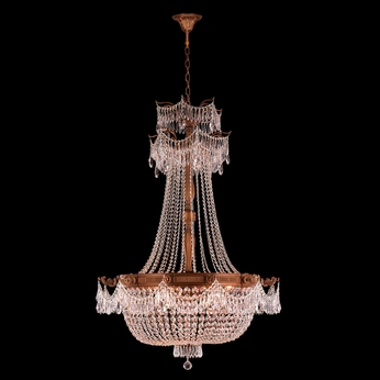 Worldwide W83355FG36-CL Winchester Crystal French Gold Finish 50 Tall Chandelier Light