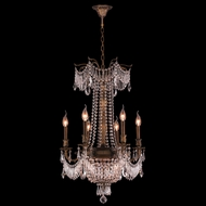 Worldwide W83356B20-CL Winchester Crystal Antique Bronze Finish 20  Wide Mini Ceiling Chandelier