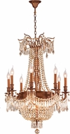 Worldwide W83356FG24-GT Winchester French Gold Hanging Chandelier