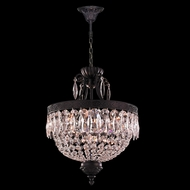 Worldwide W83357F16-CL Enfield Flemish Brass Clear Drum Hanging Lamp