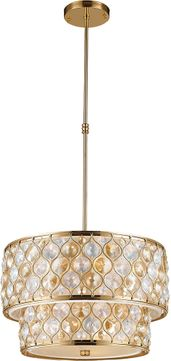 Worldwide W83410MG20-CM Paris Matte Gold 20  Drum Pendant Light