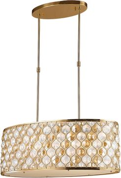 Worldwide W83415MG32-CM Paris Matte Gold Island Lighting