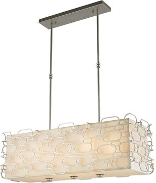 Worldwide W83441MN36 Montauk Contemporary Matte Nickel 36  Island Lighting