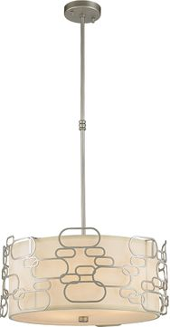 Worldwide W83443MN20 Montauk Contemporary Matte Nickel 20  Hanging Light Fixture