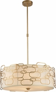 Worldwide W83444MG24 Montauk Modern Matte Gold 24  Drop Lighting