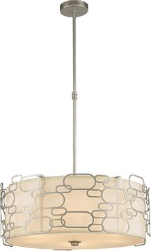 Worldwide W83444MN24 Montauk Contemporary Matte Nickel 24  Drop Ceiling Lighting