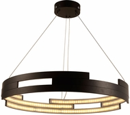 Worldwide W83470MB32 Nexus  Contemporary Matte Black LED 32  Pendant Light